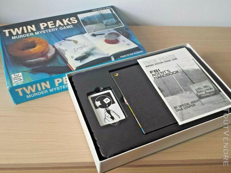 Twin peaks murder mystery board game 1991 rare jeu de