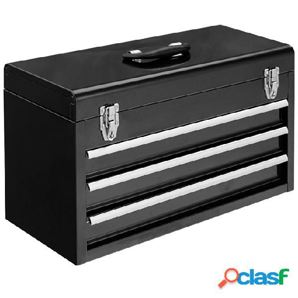 Costway boite à outils cabinet coffre à 3 tiroirs malette à outils complète bricolage mecanique pour réparations quotidiennes
