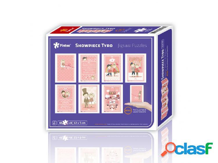 8 puzzles 40 pièces en plastique - showpiece - the collection of lover