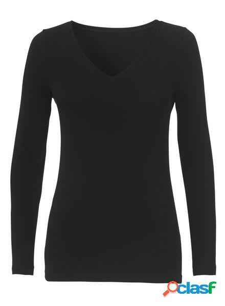 Hema t-shirt femme, coton biologique noir (noir)