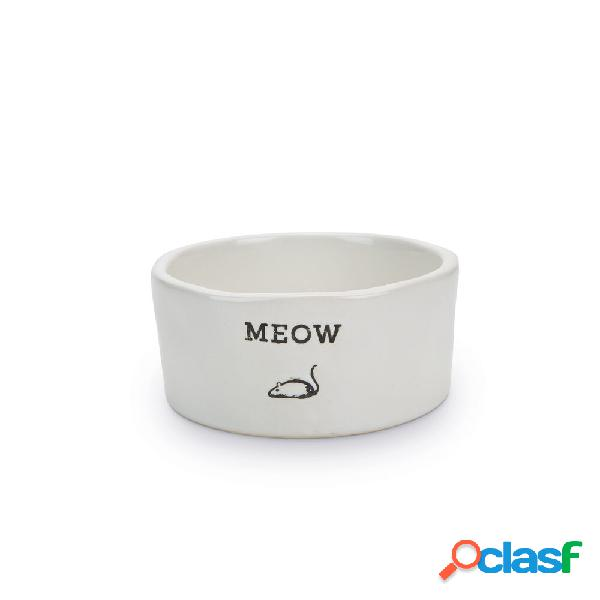 Bol de céramique meow beeztees pour chat, 11,5 x 4