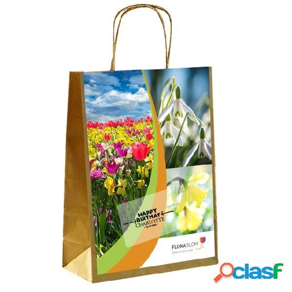 Cadeau personnalisã©e bulbes ã fleurs de printemps bleu et blanc