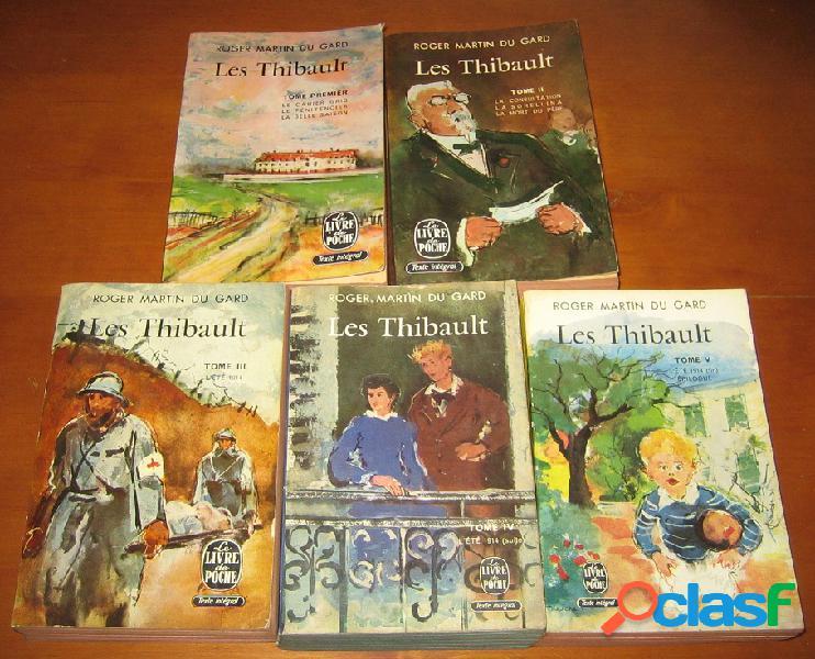 Les thibault (5 tomes), roger martin du gard