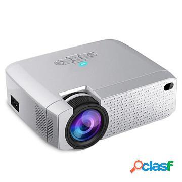 Mini projecteur led portable - 3000lm - argent