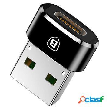 Mini adaptateur usb 2.0 / usb 3.1 type-c baseus - noir