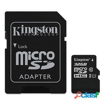 Carte mémoire microsdhc kingston canvas select sdcs2/32gb - 32go