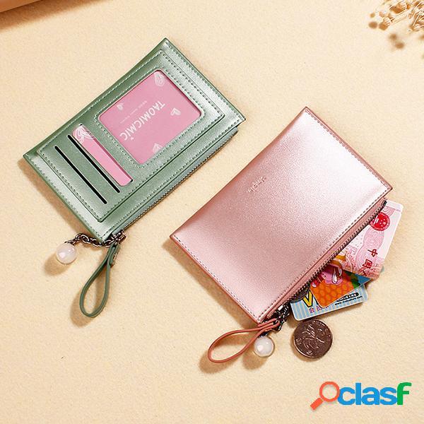 Porte-cartes porte-monnaie porte-monnaie creative mini pearlescent laser charm pour les femmes