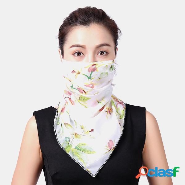 Femmes masques d'impression respirants monture d'oreille protection solaire écharpe châle écharpe