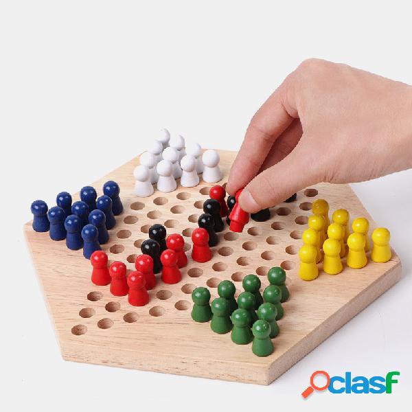 Jeu de jeu de dames chinoises conseil scolaire en bois pour enfants jeu de dames chinoises jeu de stratégie de famille