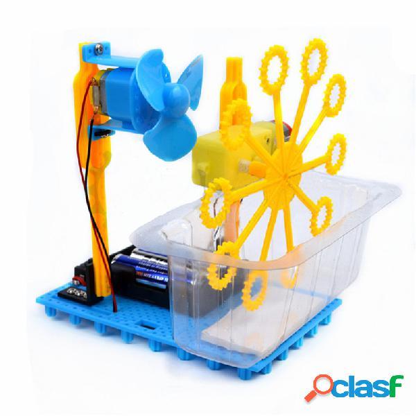 Petit kit éducatif hammer steam diy bubble blister robot machine
