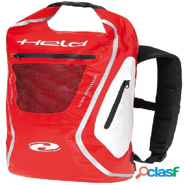 Held zaino, sacs à dos de moto, blanc-rouge