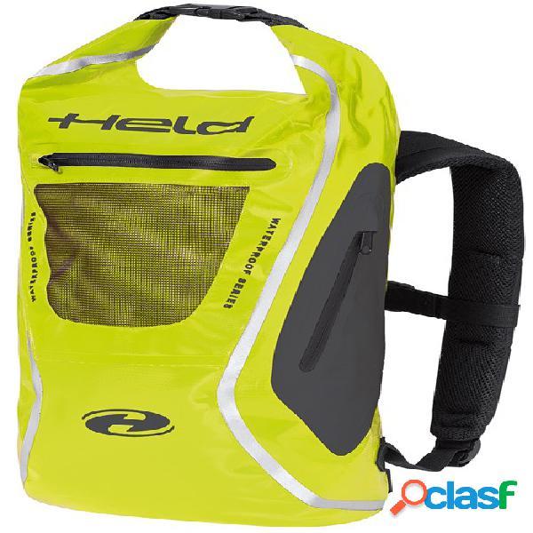 Held zaino, sacs à dos de moto, noir-jaune fluo