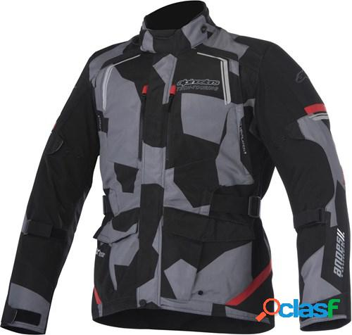 Alpinestars andes v2 drystar jacket, veste moto textile hommes, noir