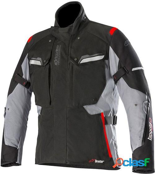 Alpinestars bogota v2 drystar jacket, veste moto textile hommes, noir-gris