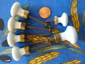 6 poignées boutons pour tiroir en porcelaine
