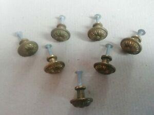 Ancien bouton poignée en bronze pour tiroir porte meuble