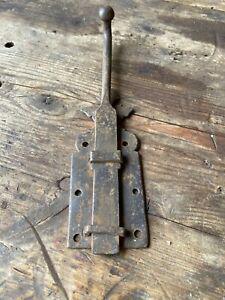 Ancien verrou bas pour porte targette poignée clenche fer