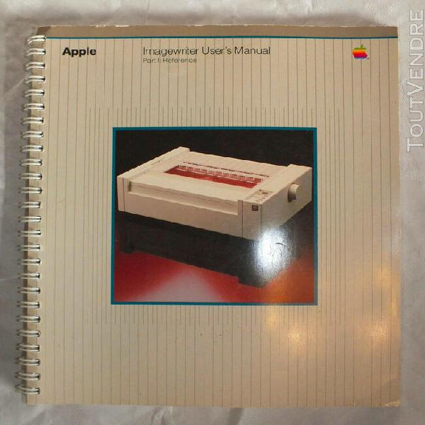 Apple - imagewriter user's manual - english - fair condition