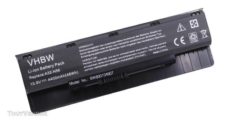 batterie li-ion vhbw 4400mah (10.8v) pour ordinateur portabl