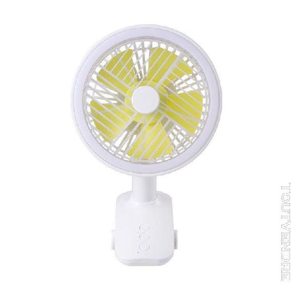 Clip de bureau secouant la tête mini ventilateur usb lampe