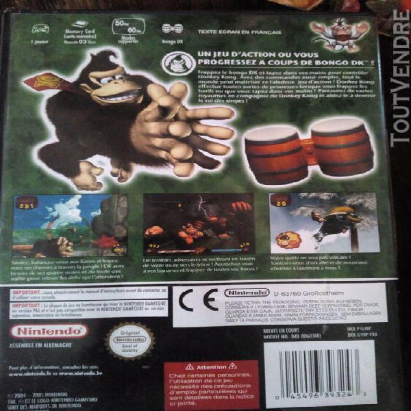 Game cube: donkey kong: jungleebeat + dk bongos complet