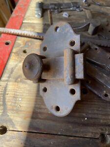 Grosse targettes verrou fer forgé ancienne porte largeur