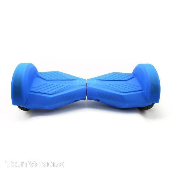 housse silicone bleu hoverboard 8""