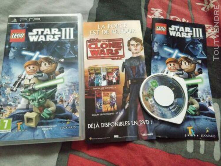 Jeux video- star wars iii: the clone wars sur psp