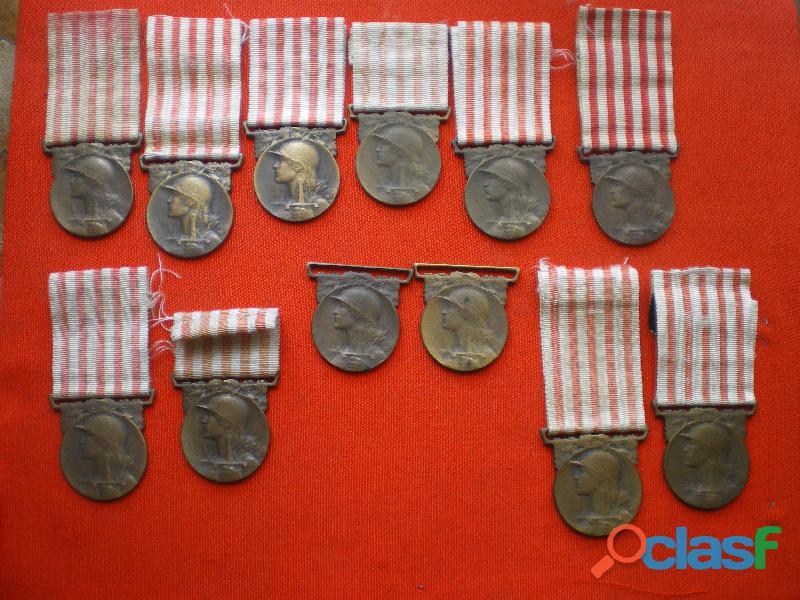 Médailles commémoratives de 1914 1918.