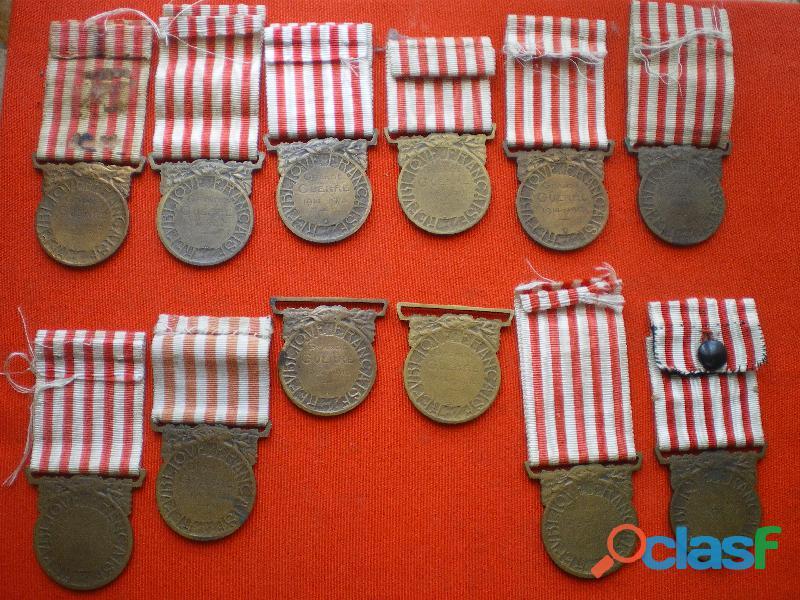 Médailles commémoratives de 1914 1918. 1