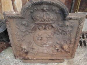 Plaque fonte cheminee ancienne epaisse 93320