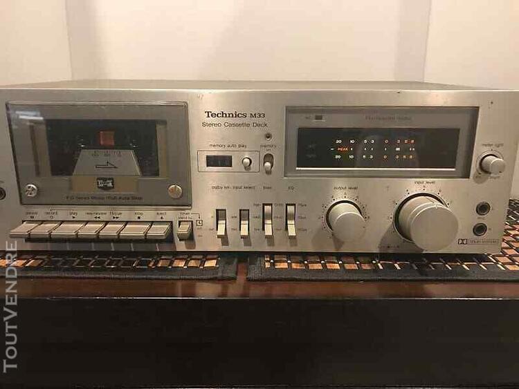 Platine k7 technics m33 lecteur enregistreur cassettes