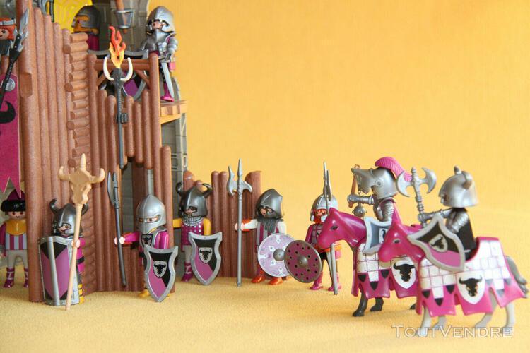 Playmobil. barbares-taureau, chateau en ruine: 4435 et 4436
