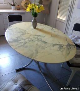 table en marbre salle a manger sans le pied