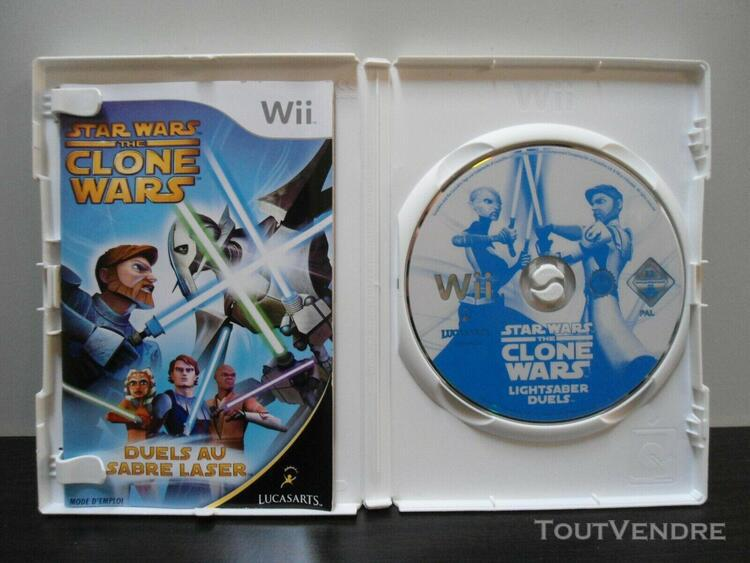 wii: star wars the clone wars - pal complet.