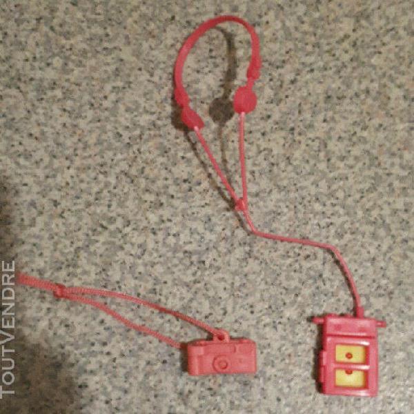 Barbie accessoires appareil photo et walkman