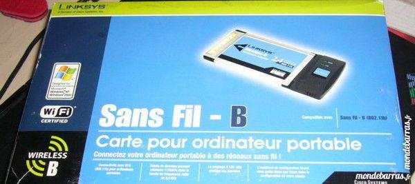 Carte wifi wireless pcmcia lynksys neuve occasion,