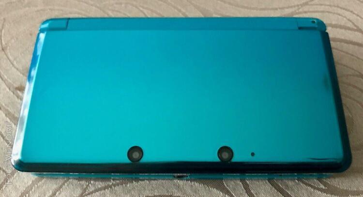 Console nintendo 3ds bleu lagon - 4 jeux 3ds - 5 jeux ds