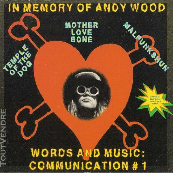 In memory of andy wood - words and music communication #1
