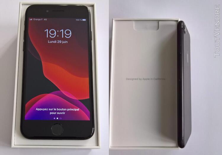 Iphone 7 128 go noir mat - débloqué reconditionné