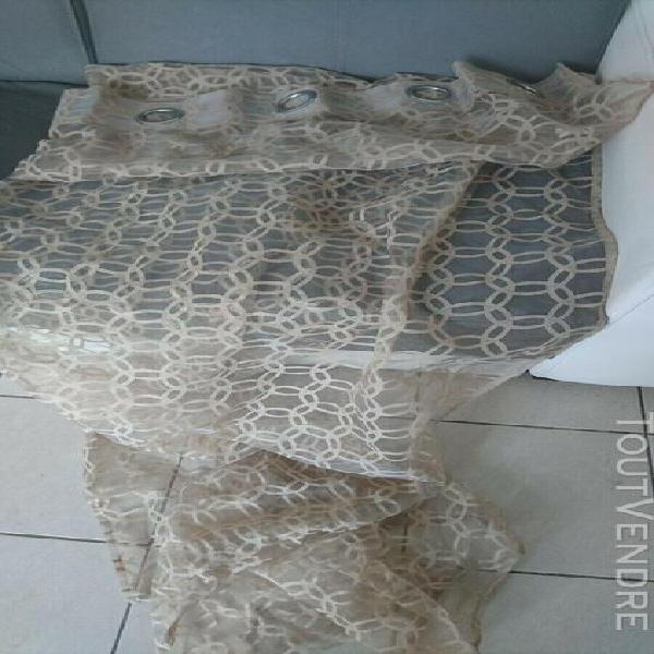 Lot 6 voilages 140x240 taupe