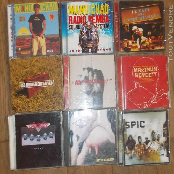 Lot de 19 cd rock world music rap