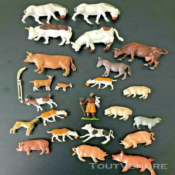 Lot figurines animaux ferme britains - genre starlux claire