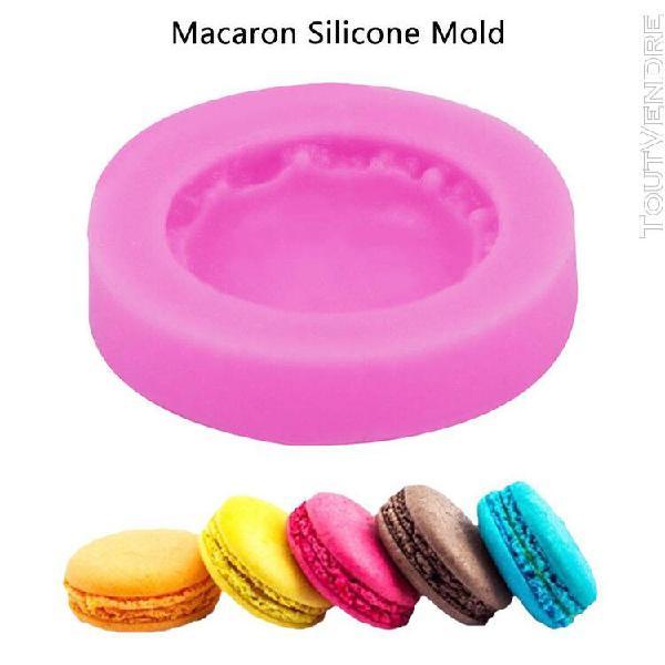 Xm moule à fondant pour gâteau rond en silicone macaron