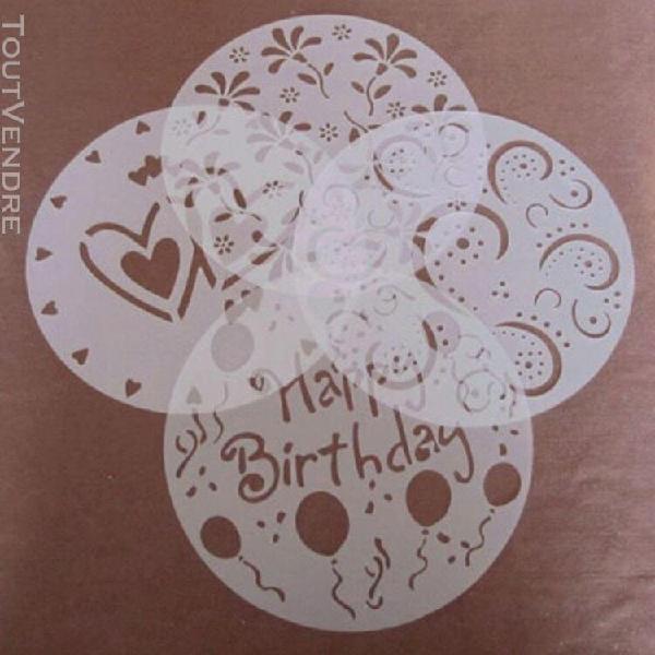 Xm moule modèle de pochoir de gâteau moule spirale