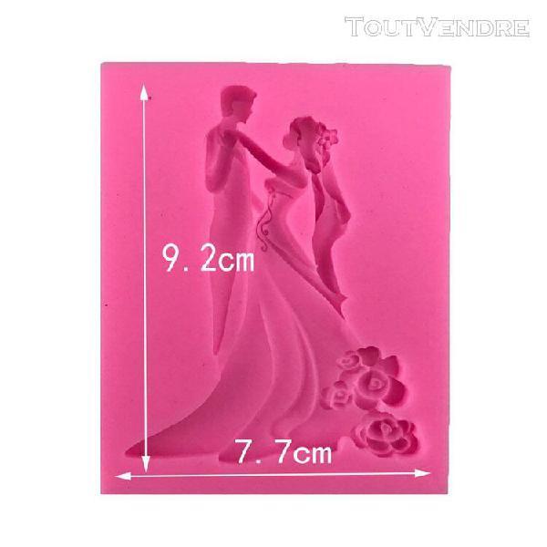 Xm sugarcraft-moule en silicone de mariage moule à fondant