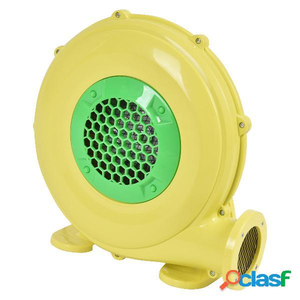 Costway 480 w pompe gonflable de ventilateur eléctrique de château gonflable et de barbecue avec moteur jaune