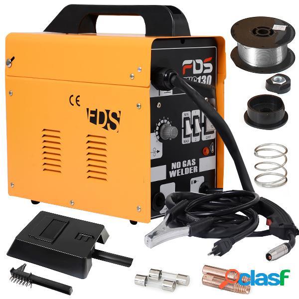 Costway poste à souder 230v inerte flux gaz inerte mig 130 electrode de soudage fil fourré couleur jaune