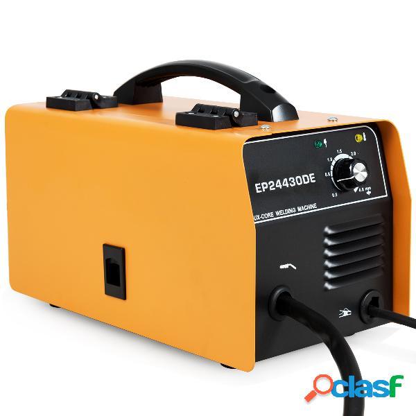 Costway poste à souder mig 130 en fer orange 220-240v 50hz machine de soudage 30-120a avec masque