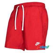 Nike short nsw woven flow - rouge/blanc